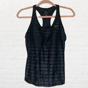 Nike Spell Out Racerback Dri Fit Running Tank Top